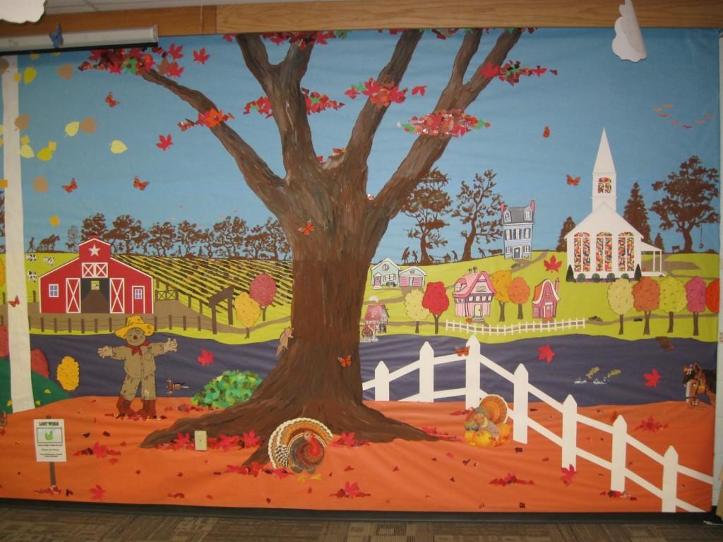Autumn classroom bulletin board ideas for Fall bulletin board ideas