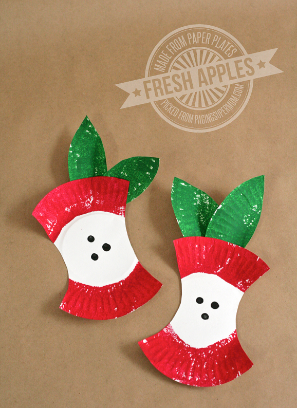 There's just something about the apple that lends itself to amazing crafts that kids adore. I get a little nostalgic about apple print crafts myself. I scoured Pinterest and the pages of some of my blogging buddies and pulled together my top twenty apple crafts that you HAVE to check out for your kids.
