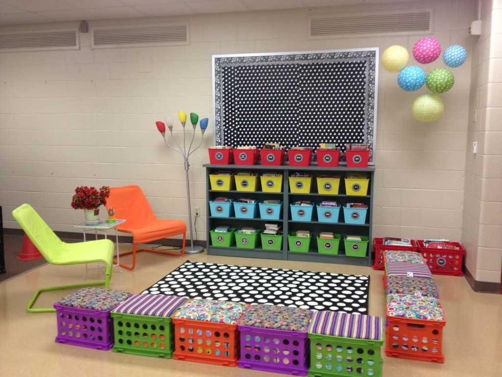 Classroom Library Ideas ~ Classroom reading nook ideas