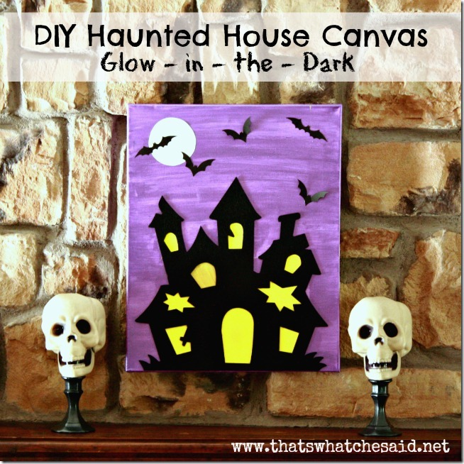 Haunted house art activity