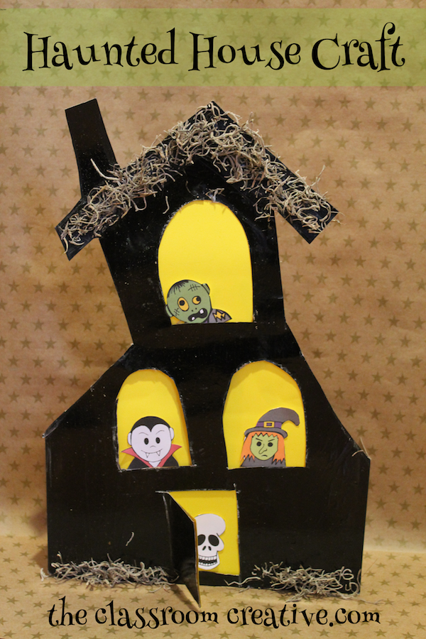 Cereal or Gift Box Haunted House Craft for Kids on waffle box house, making house, cardboard box house, cracker box house,