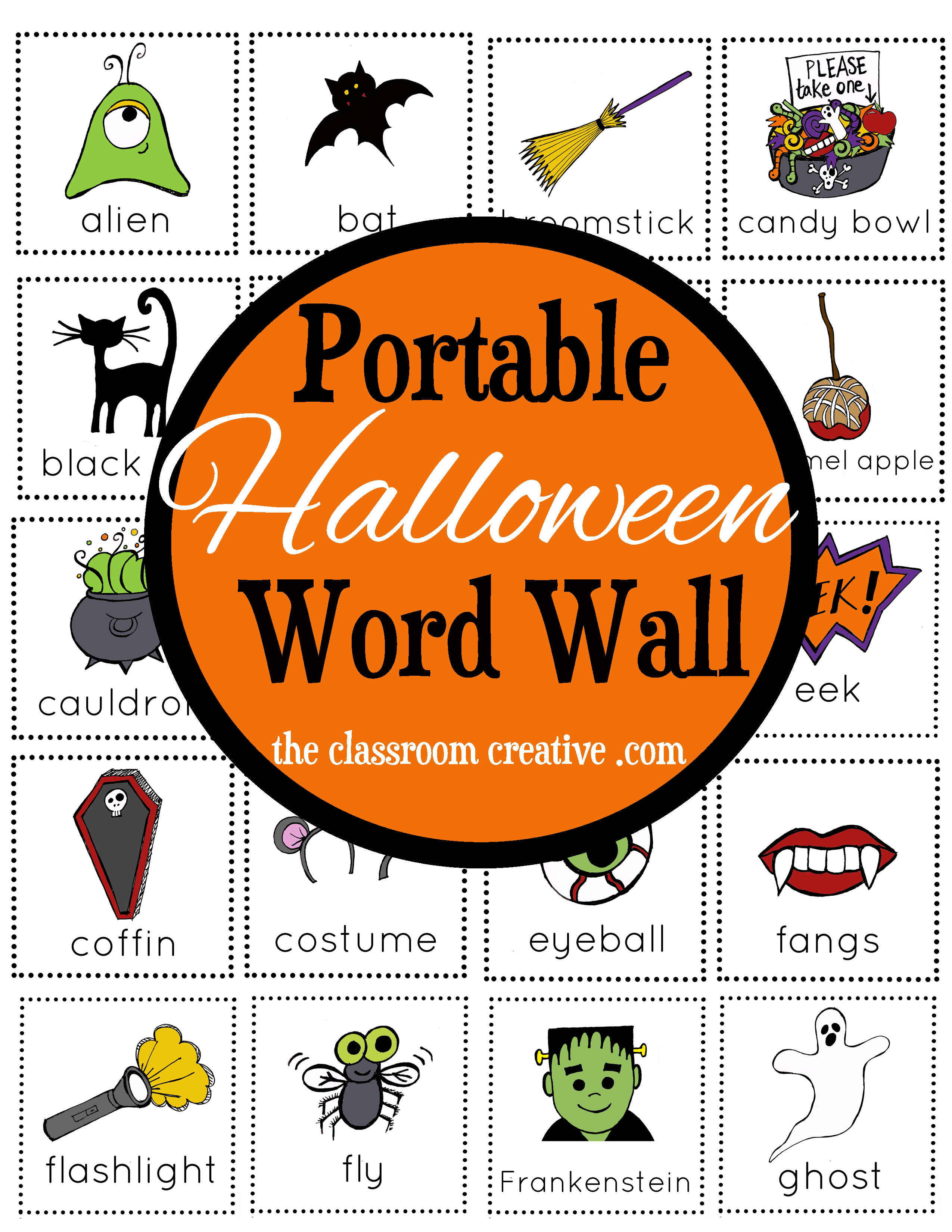stop - Halloween Vocab Words
