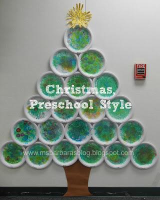 Christmas tree bulletin board ideas for Christmas crafts for kindergarten class