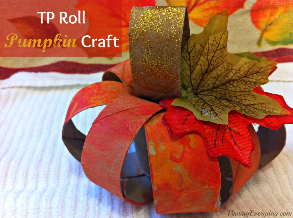 Pumpkin crafts for kids for Toilet paper roll crafts thanksgiving