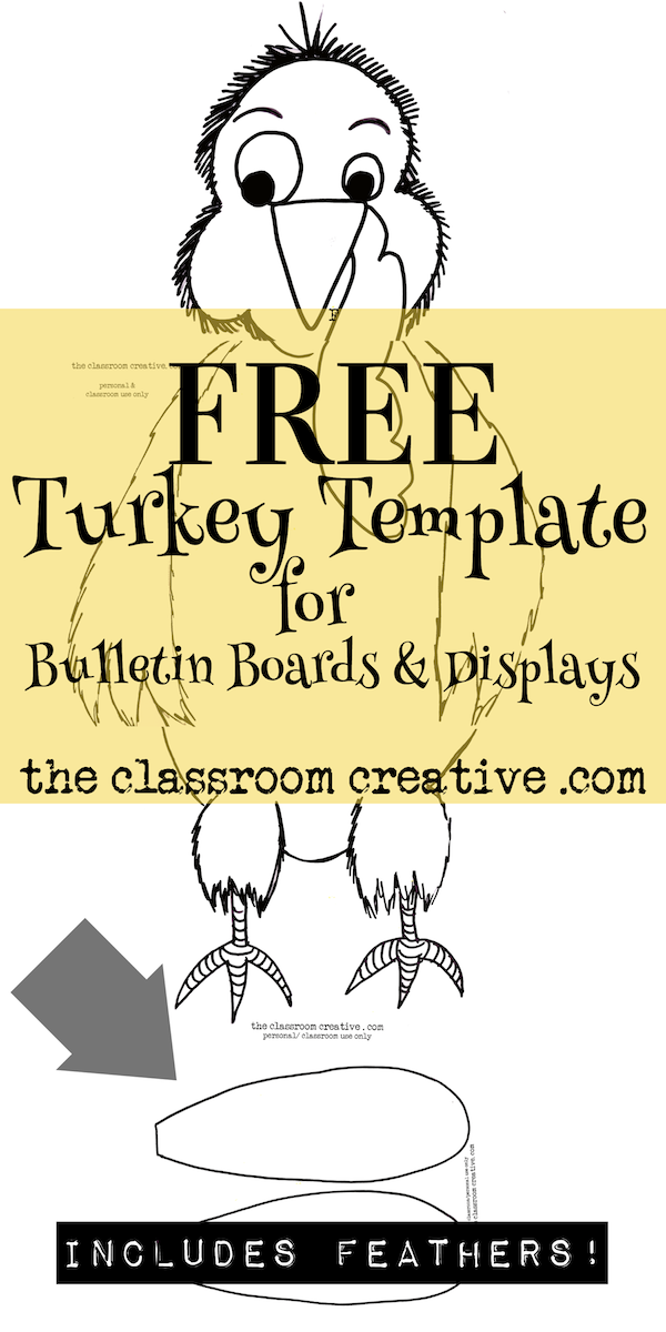 November and thanksgiving bulletin boards for Turkey template for bulletin board