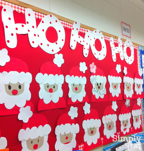 Christmas Classroom Decoration Printables : Santa claus bulletin board ideas