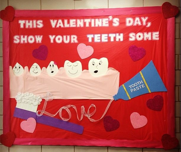 february bulletin boards, dental health bulletin boards
