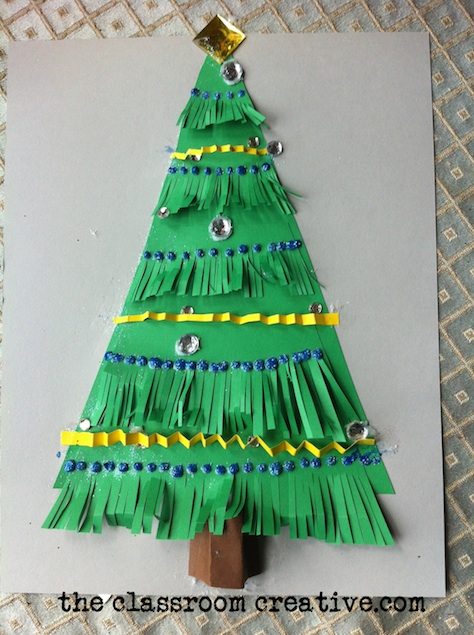 christmas tree craft that teaches texture