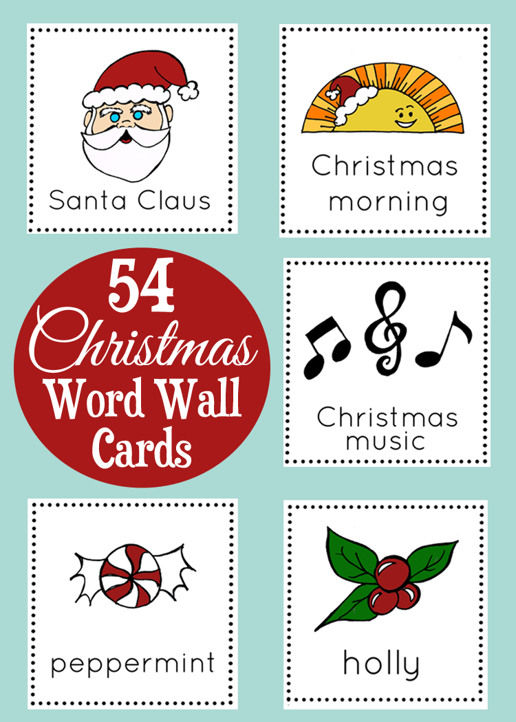 Christmas Word Wall Cards (2 sizes) from The Classroom Creative.com