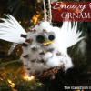 snowy owl ornament craft, owl craft