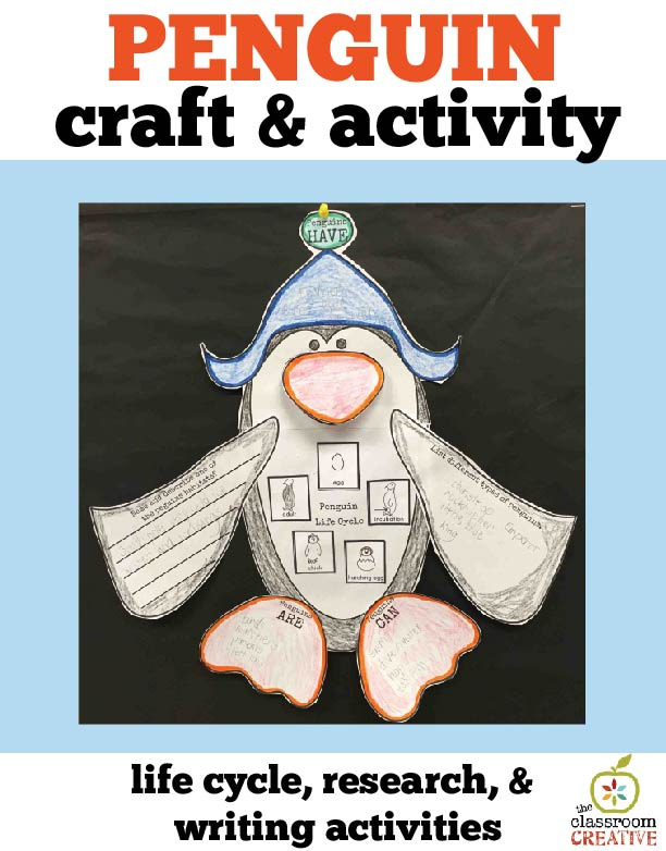 penguin science activity unit idea graphic organizer