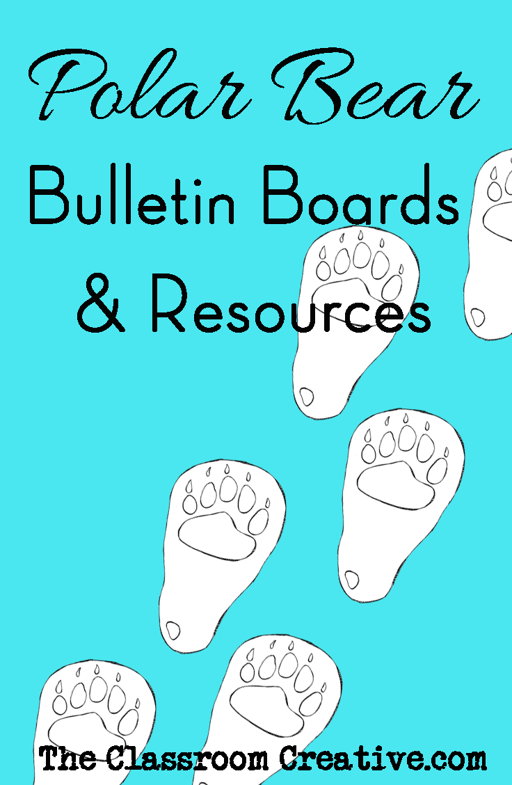 polar bear bulletin boards and resources for winter