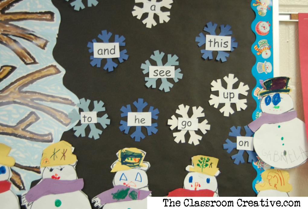 ... helps inspire you to create a sight word bulletin board of your own