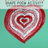 Poetry Activity for Valentine's Day with Free Printable Shape Poem Template