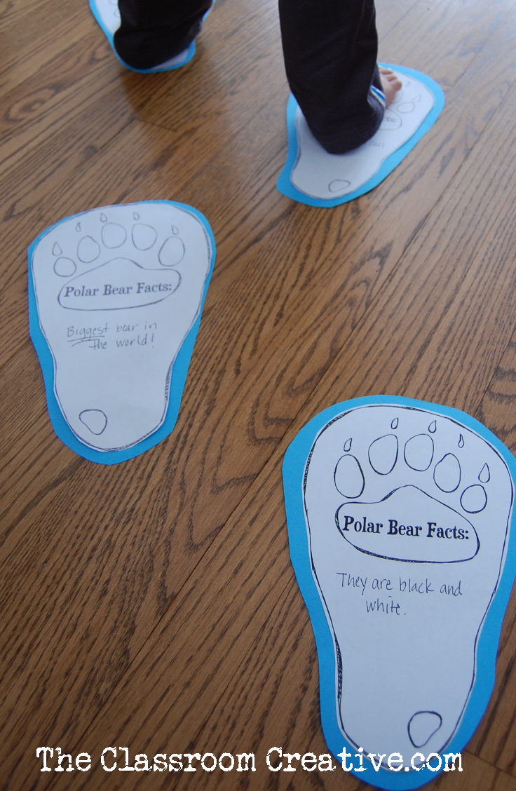 polar bea paw printable