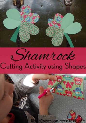 st Patrick's day fine motor activity using clovers shamrocks