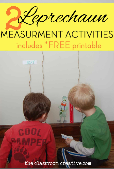 leprechaun measurement activity free printable