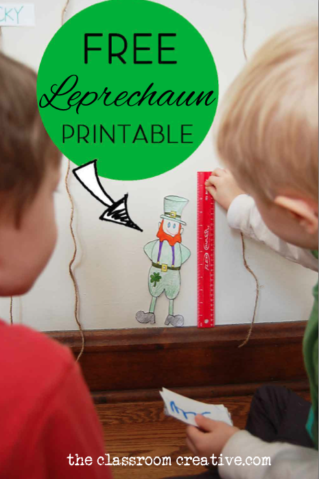 free printable leprechaun measurement activity