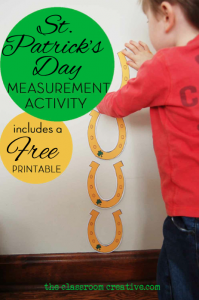 St patrick's day measurement activity  lucky horse shoe