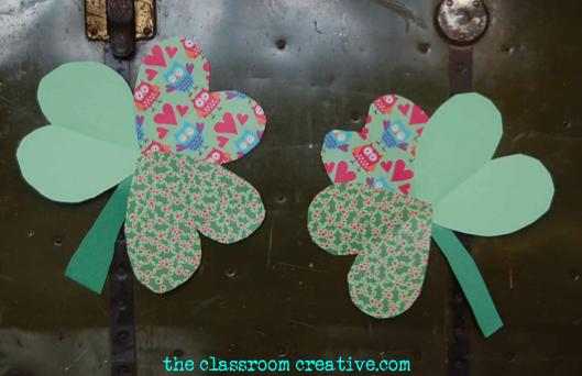 st patricks day shamrock clover activity for kids