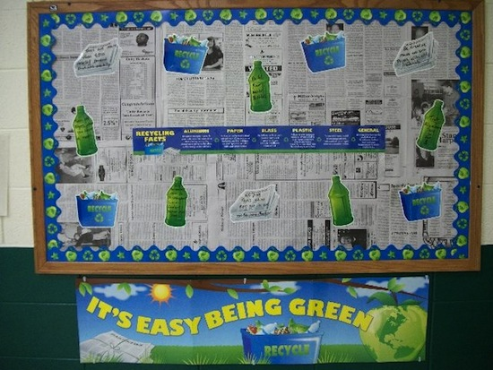 Classroom Recycling Ideas ~ Earth day bulletin board ideas