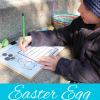 Money coin recognition coin counting activity for Easter with plastic eggs