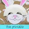 free printable bunny mask craft