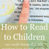 how to read to children-one small change every parent can make tonight to improve their children's readng