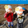 chick paper plate craft for kids spring activity