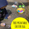 Easter Egg Sight Word Hunt with Free Printable