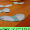 free printable spring Easter bunny rabbit feet