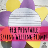 free printable spring sun flower writing prompt bulletin board idea