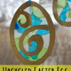 upcycled Easter egg sun catchers craft for kids