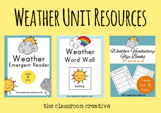 Weather Words Interactive Anchor Chart
