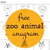 free printable animal anagrams