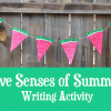 free five senses writing activity