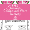 free summer compound word activity