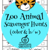 zoo animal scavenger hunts from theclassroomcreative.com