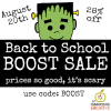 back to school boost sale TpT