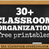 classroom organization free printables