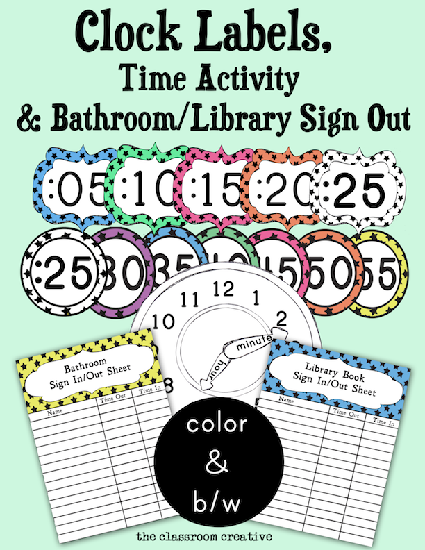 We. Free Printable Bathroom Sign Out Sheet