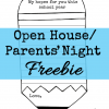 open house parents night freebie