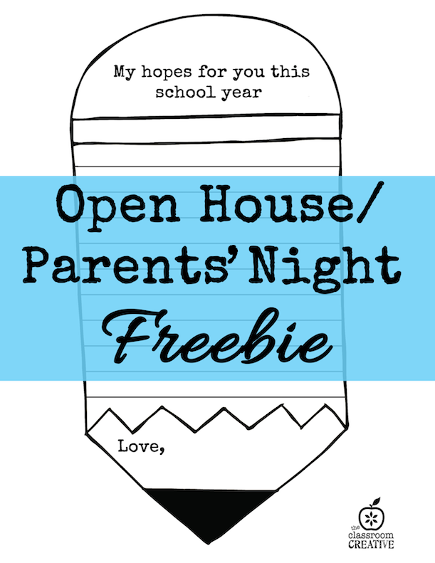 Open House and Parents\' Night Ideas