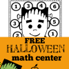 free halloween math center- frankenstein roll, count, and cover from theclassroomcreative.com