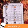 halloween vocabulary scavenger hunt