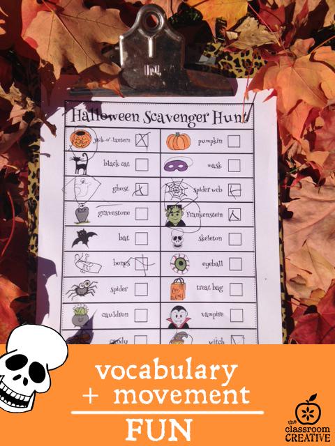 Halloween Scavenger Hunt: A Fun Halloween Literacy Center
