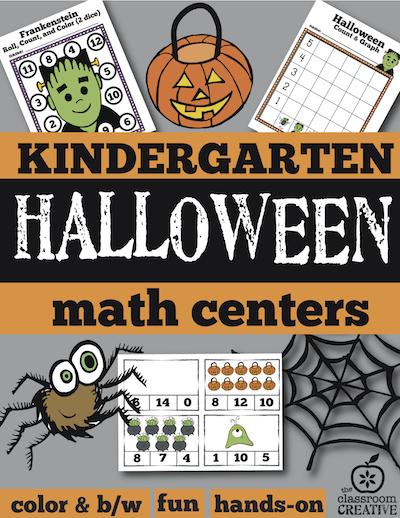 Free Halloween Math Center for Preschool, Kindergarten, and First ...