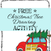 Free printable christmas drawing Writing activity for kindergarten 1st grade preschool
