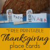Free Printable Thanksgiving Place Cards Craft for Kids