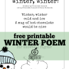 free printable winter poem for kids